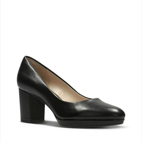 7832b2f52988a Clarks Shoes   Kelda Hope Leather Heels   Poshmark